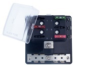 Fuse Block with Grounding pad, BLR-306-G