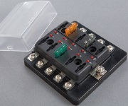 Automotive Standard Blade Fuse Fuse Block - with LED - BLR-I-510