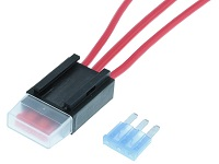 In Line Fuse Holder - Micro3 Auto Blade Type - LPK-01
